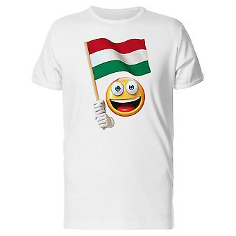 Happy Emoji With Hungarian Flag Tee Men's -Image by Shutterstock