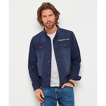 Joe Browns Mens Biker stil tvättas jeansjacka Look