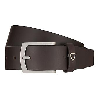 Strellson jeans belt men belt cowhide leather belt Brown 7922