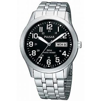 Pulsar Mens Stainless Steel Bracciale analogico PXN181X1 orologio