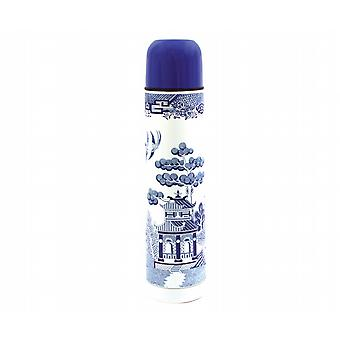 Blue Willow Vacuum Thermos Flask With Cup (500ml)