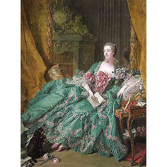 Madame de Pompadour, Francois Boucher, 50x38cm