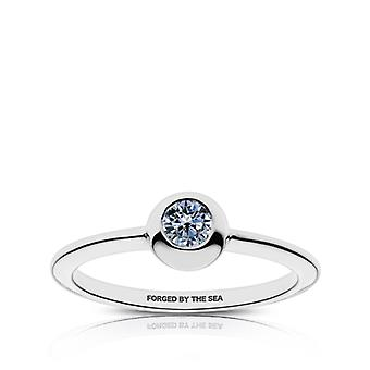 US Navy - Forgiato dal mare inciso bianco zaffiro anello