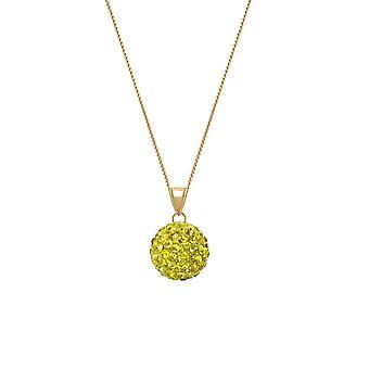 Ewige Sammlung Tarantella Sunshine gelb Diamante Goldton Anhänger Halskette