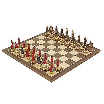 The England Vs Scotland Hand painted themed Chess set by Italfama