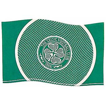 Celtic FC Bullseye Design large licensed nylon flag 1500mm x 900mm   (bb)