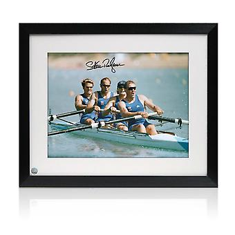 Sir Steve Redgrave Signed And Framed Photo: The Winning Team