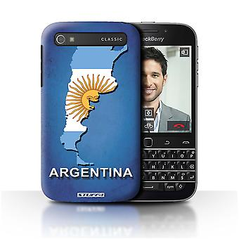 STUFF4 Case/Cover for Blackberry Classic/Q20/Argentina/Argentinean/Flag Nations