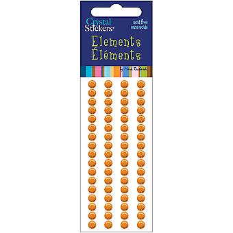 Elements de Stickers cristal 5Mm rondes 68 Pkg Orange Cs5mm 2522