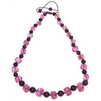 Lola rosa Mobi collar berenjena y violeta cristal de roca