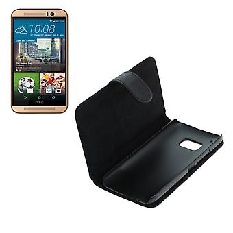 OTB bag (leather) for HTC one M9 Bookstyle black