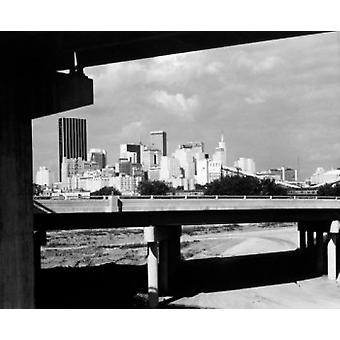 USA Texas Dallas skyline Poster Print