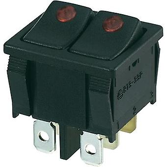 Toggle switch 250 Vac 10 A 2 x Off/On SCI R13-33PB2-02 latch 1 pc(s)