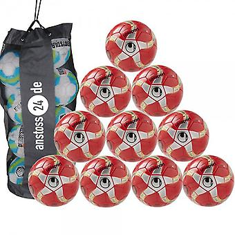 10 x Uhlsport Futsalball - MEDUSA ANTEO includes ball sack