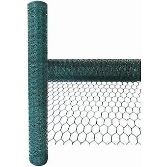 PVC Coated Galvanised Chicken Wire Netting Green 5m X 0.6m X 25mm Mesh