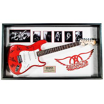 Aerosmith Signed  Guitar Custom Framed