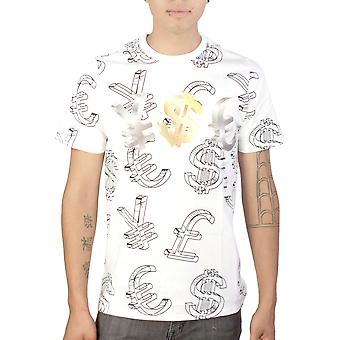 YMCMB Worldwide Currency Graphic Design Men's Printed White Casual T-shirt