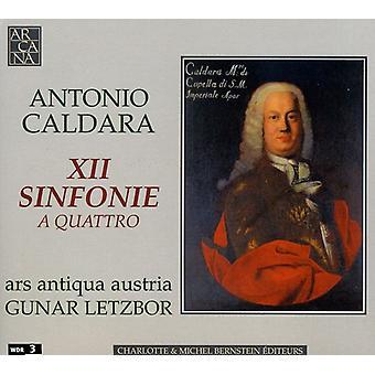 A. Caldara - Antonio Caldara: Xii Sinfonie en Quattro [CD] USA import