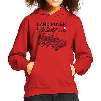 Haynes Workshop Manual 3016 Land Rover Discovery Kids Sweatshirt mit Kapuze schwarz