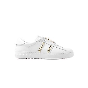 Ash Women's Party Leather Stud Trainers - White