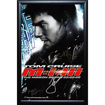 Mission: Impossible III - Cast Signed Movie Poster Framed