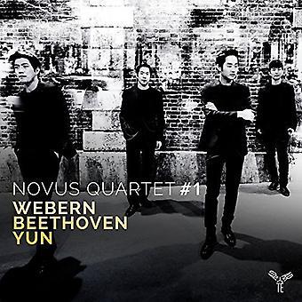 Novus kvartetten - strygekvartetter af Webern Beethoven & Yun [CD] USA import