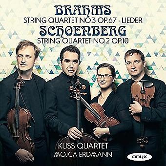 Brahms / Schoenberg / Kuss kvartetten - strygekvartetter [CD] USA import