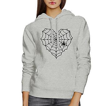 Spider Web Halloween Horror Nights maglia felpa cappuccio grigio Unisex superiore