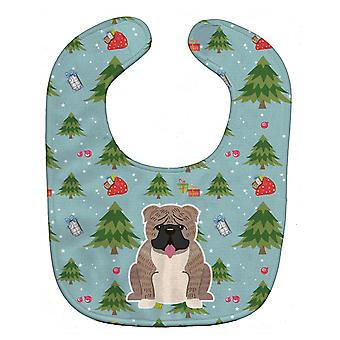 Carolines Treasures  BB4786BIB Christmas English Bulldog Grey Brindle  Baby Bib