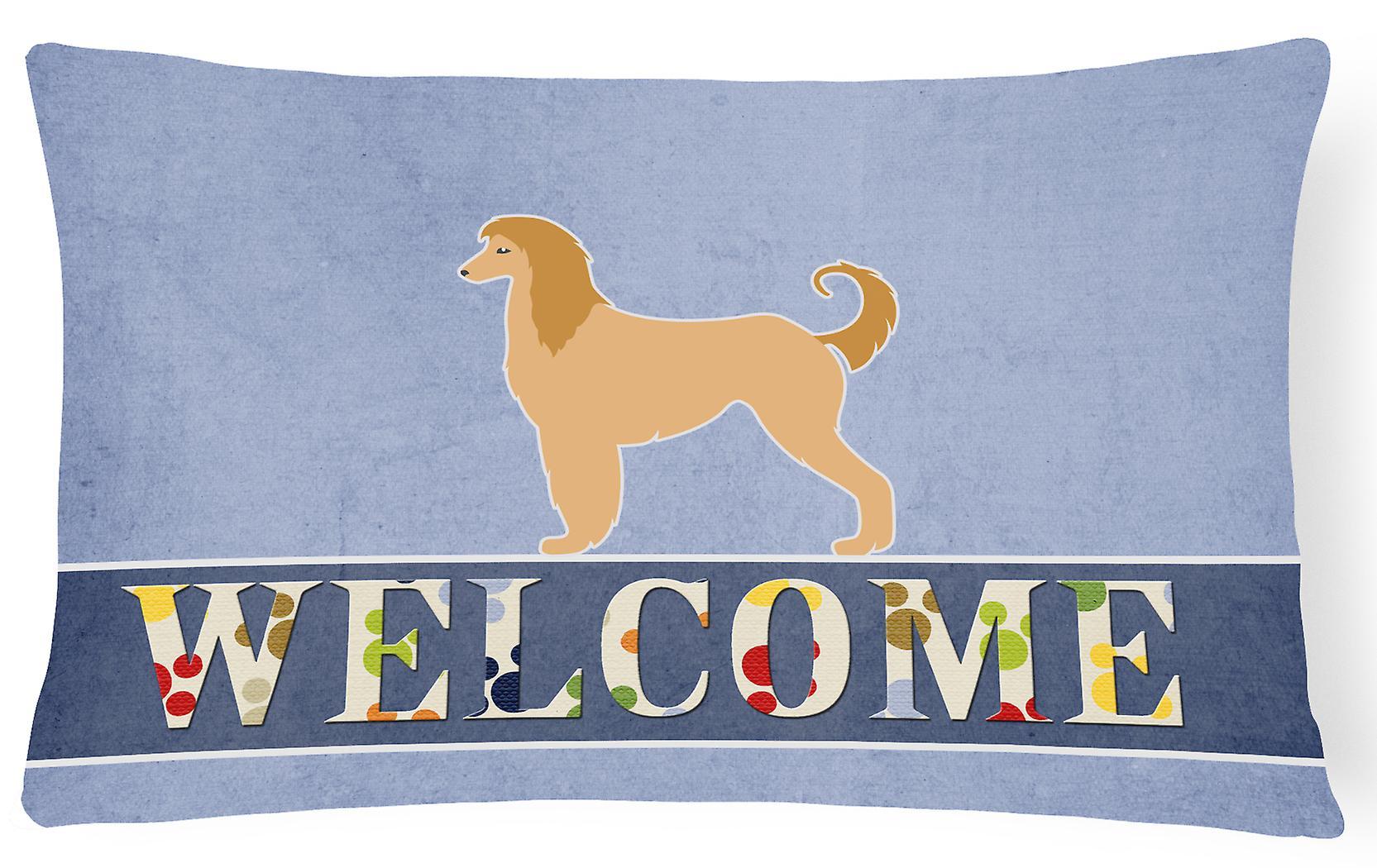 Bienvenue Toile Oreiller Afghan Tissu Décoratif Lévrier PkZiTuOX