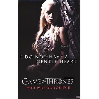 Game of Thrones - Khaleesi Daenerys Targaryen - blid hjerte plakat plakat Print
