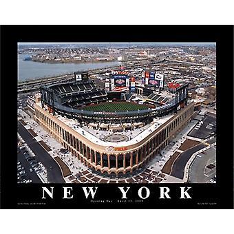 Mike Smith Citi Field New York Mets Eröffnung Tag Poster drucken von Mike Smith (28 x 22)