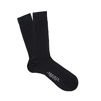 Milano, two tone ribbed cotton lisle socks