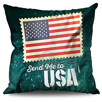 Send me Usa Flag Linen Cushion Send me Usa Flag | Wellcoda