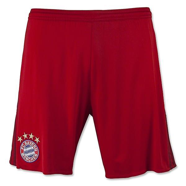 2015-2016 Bayern Munich Adidas Home Shorts (Red) - Kids