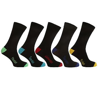 Pierre Roche Mens Days Of The Week Socks (Pack Of 5)