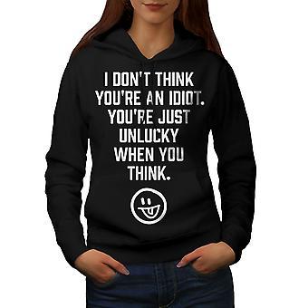 Idioten Offensive lustige Frauen BlackHoodie | Wellcoda