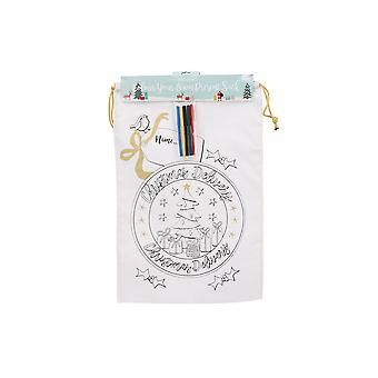 CGB Giftware Christmas Colour In Christmas Delivery Sack
