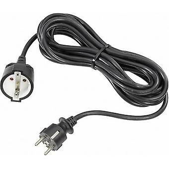 Current Cable extension 16 A Black 3 m