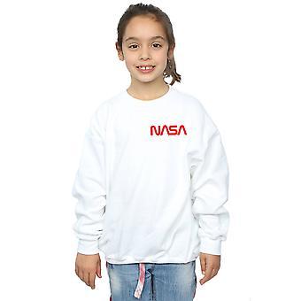 NASA Girls Modern Logo Chest Sweatshirt