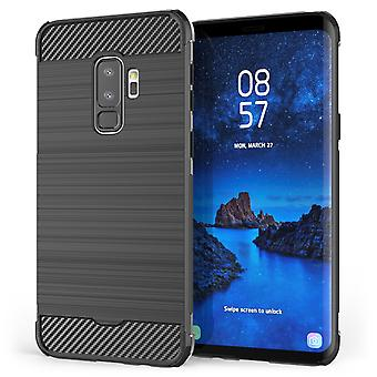 Samsung Galaxy S9 Plus Carbon Anti-Herbst TPU Case - schwarz