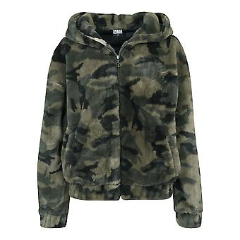 Urban classics ladies jacket Camo Teddy