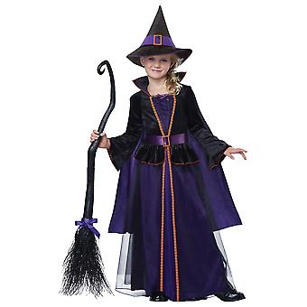 Hocus Pocus Storybook Witch Wicked Sorceress Purple Book Week Girls Costume