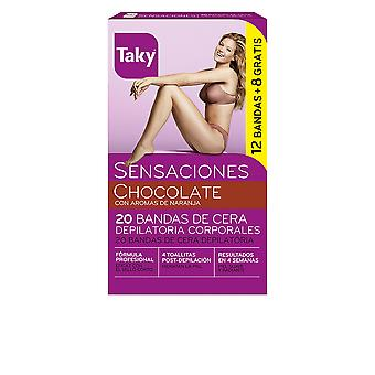 Taky Chocolate Bandas De Cera Corporales Depilatorias 12 8 Units Womens
