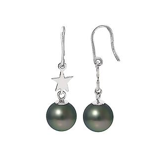 Dinglende star øredobber perler av Tahiti og sølv 925/1000