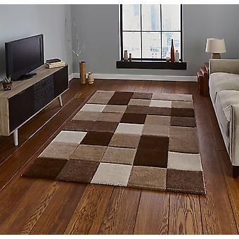 Alfombras modernas alfombras de Brooklyn 646 rectángulo marrón Beige