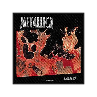 Metallica Patch Load Band Logo Official New Black Cotton Sew On (10cm x 10cm)