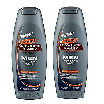 Palmer's Cocoa Butter Formula Men Body & Face Wash 400ml (2-Pack)