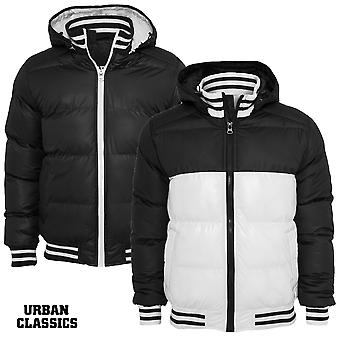 Urban Classics Shiny 2-tone College Hooded Bubble Jacket