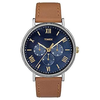 Timex Southview męskie wielofunkcyjne TW2R29100 brązowy chronograf